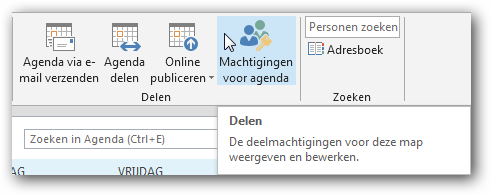 Outlook agenda delen met externen